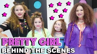 "Available on iTunes!  https://itunes.apple.com/us/album/pretty-girl/id1236940616?i=1236940618Hi Guys!  Hope you enjoy this behind-the-scenes look at what happened on set of our new music video #PrettyGirl!  We had so much fun making this project and hope you enjoy it too!  Our names are Madison (16), Gracie (15), Sierra (13) and Olivia (11) and together we are the Haschak Sisters! We have been dancing all of our lives and LOVE music!  We started this YouTube channel to share our music and hope you'll join us on our journey!  We love meeting new friends!Like our music? We would LOVE to connect with you online and let you know when we upload future videos! If you like THIS music video and want to help spread the word, it's easy! Simply LIKE, FAVORITE, COMMENT and SHARE this video with YOUR friends on Facebook, Twitter & Instagram! That really helps a lot! We love you!! xoxoOFFICIAL HASCHAK SISTERS LINKSHaschak Sisters Gear Storehttp://Shop.HaschakSisters.comYouTubehttp://YouTube.com/HaschakSistersFacebookhttp://Facebook.com/HaschakSistersTwitterhttp://Twitter.com/HaschakSistersInstagramhttp://Instagram.com/HaschakSistersLYRICSSoooo, listen up ladies all across the mapI think it's time we have a chit chatI see ya walking the mallFixing up and getting ready just to walk down the hallThen what's a girl to do?I just want to feel like I'm accepted and i'm beautifulAin't nothing wrong with thatBut ya need to get the facts so you don't end up as ""that girl""Ain't nothing wrong with getting your hair didYou love an outfit then wear itGot your nails on and some high heels tooEverybody looking at youFeeling so fly passing by at schoolBut that's not why you're beautifulOkay!Lipstick love to get fixed upBut you ain't gotta do too muchI think that you should knowYou don't need makeup to makeup a pretty girlWorth more than a work of art (and you can't)Conceal what's in your heart (so highlight)The person that you areYou don't need makeup to makeup a pretty girlSometimes I fix upSometimes I down playDepends on how I feel that day (hey)Cause don't need a boy to sayThat he... thinks I'm pretty just to feel okEvery now and then I'll put on makeupAnd suddenly the boys they wakeupFollow me around saying, ""girl you fine""Boy have you done lost your mind?Ain't nothing wrong with getting your hair didYou love an outfit then wear itGot your nails on and some high heels tooEverybody looking at youFeeling so fly passing by at schoolBut that's not why you're beautifulOkay!Lipstick love to get fixed upBut you ain't gotta do too muchI think that you should knowYou don't need makeup to makeup a pretty girlWorth more than a work of art (and you can't)Conceal what's in your heart (so highlight)The person that you areYou don't need makeup to makeup a pretty girl(dance break)Lipstick love to get fixed upBut you ain't gotta do too muchI think that you should knowYou don't need makeup to makeup a pretty girlWorth more than a work of art (and you can't)Conceal what's in your heart (so highlight)The person that you areYou don't need makeup to makeup a pretty girl(repeat)"