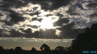 Sun rising on Central Victoria, Bendigo timelapse footage June 19th climate changing ?