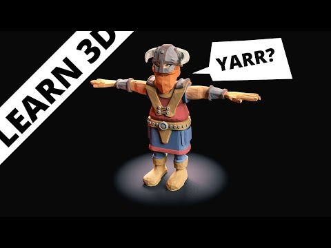 Blender Tutorial: Simple Viking
