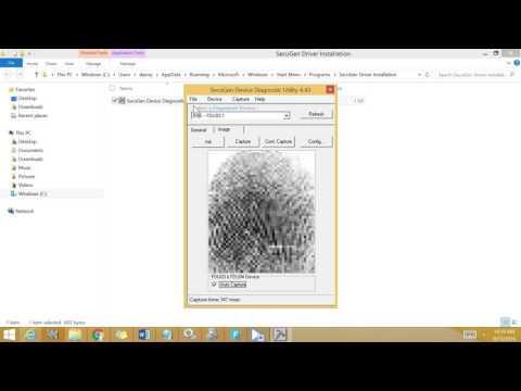 Fingerprint Capture using Secugen Hamster Plus