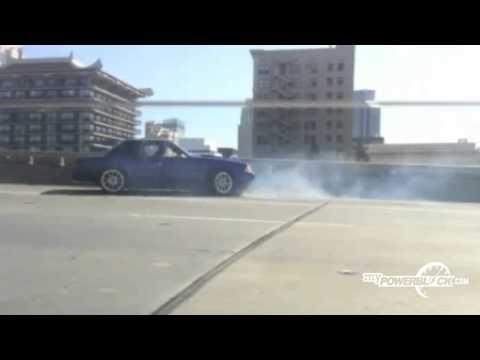 MyPowerBlock: Fox Body Mustang crash caught on video!