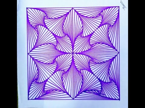 how to draw a geometric design by ink pen