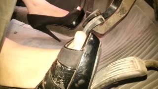 Driving In Black High Heels&barefoot