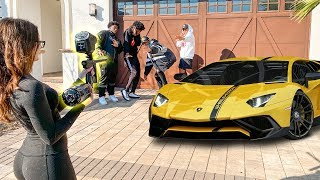 Whoever Takes The Most Paintballs, Wins A Lamborghini 🔥😳
