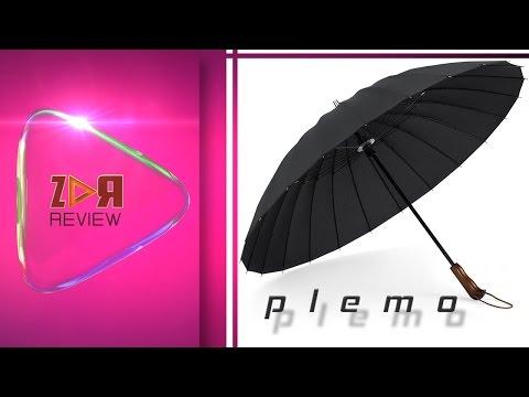 Plemo Regenschirm Stockschirm mit Holzgriff - Sehr großer Schirm