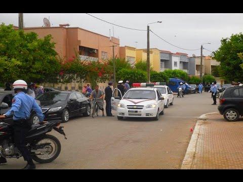 الخميسات : موكب جنازة الشرطي احمد المختاري الرسمية