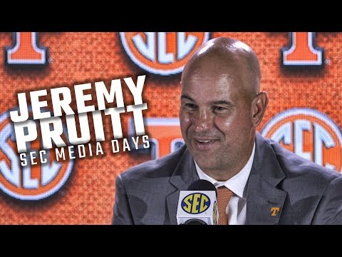Hear what Tennessee head coach Jeremy Pruitt had to say at SEC Media Days 2018