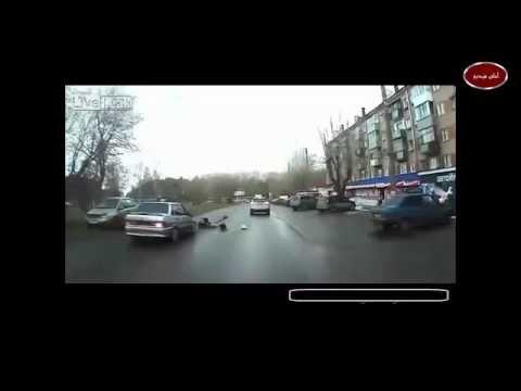 بالفيديو.. شاهد ماذا فعلت فتاة روسية خارقة بعد تعرضها لصدمة عنيفة