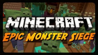 Minecraft Mini-Game: EPIC MONSTER SIEGE! (Made for 1.4)