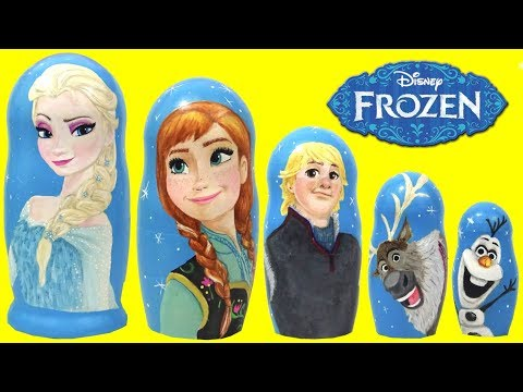 DIY Hand Painted Frozen Princess Nesting Dolls