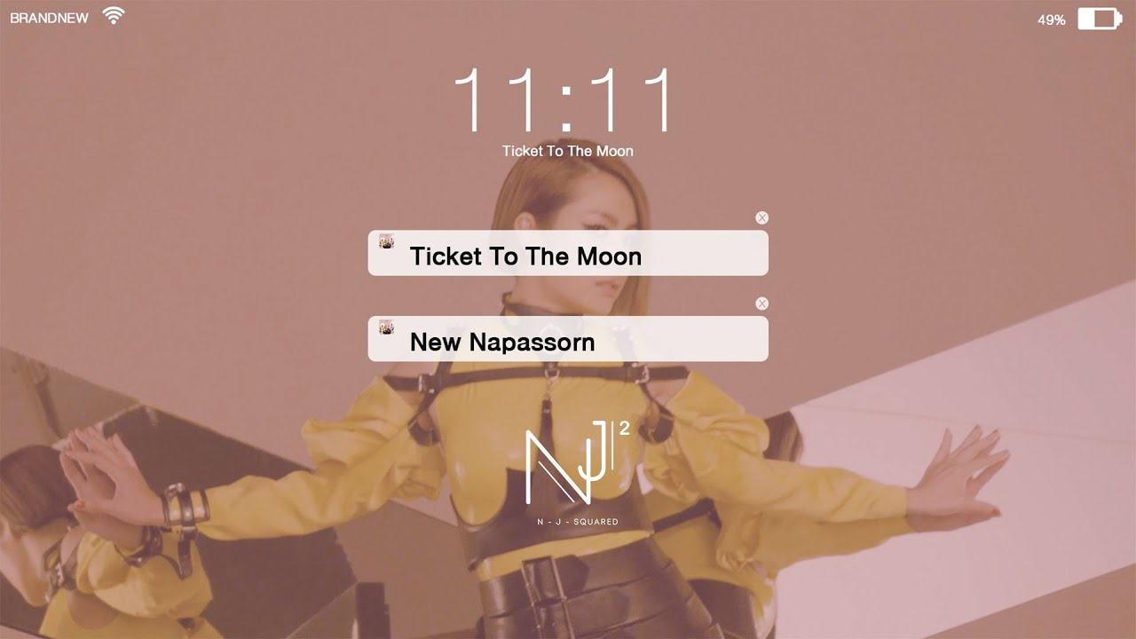 New Napassorn – Ticket To The Moon [Official Lyric Video]