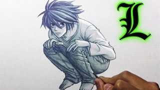 "Drawing Time Lapse: L from ""Death Note"""