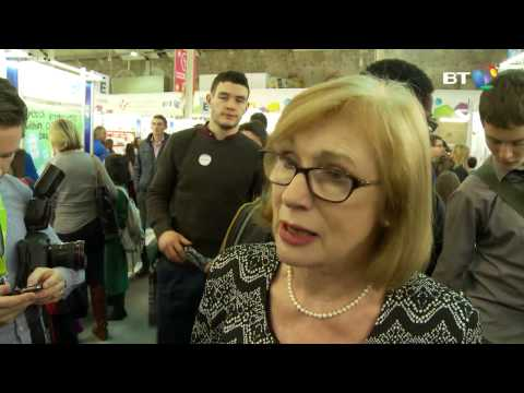 Minister Jan O'Sullivan at the 2015 BT Young Scientist & Technology Exhibition