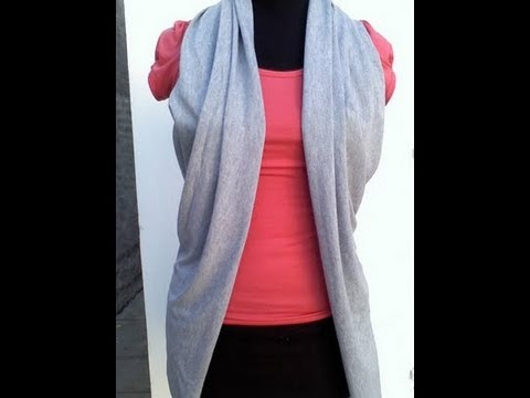 DIY crea un chaleco con tu pañuelo