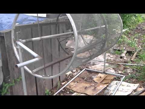 Rotating compost sifter | WanderingUpward