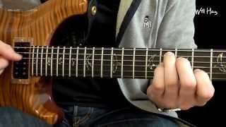 Pharrell Williams 'Happy' guitar lesson free tab HD