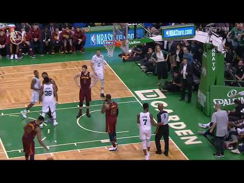 JR Smith commits a flagrant one foul on Al Horford