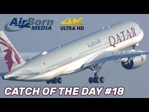 Catch Of The Day #18 Trent XWB's Sucking Huge Volumes Of Air! Manchester Airport Plane Spotting 4K