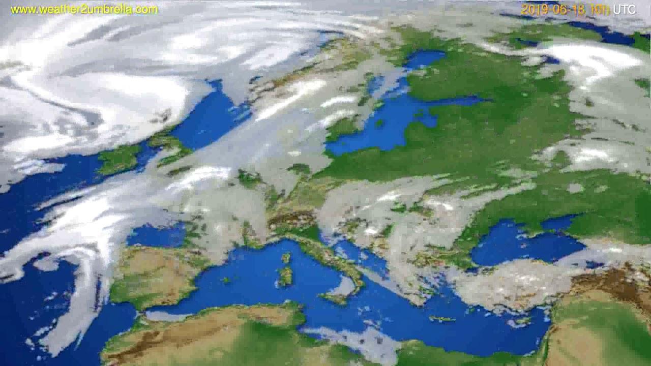 Cloud forecast Europe // modelrun: 00h UTC 2019-06-16