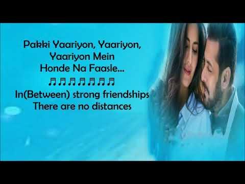 Dil Diyan Gallan song lyrics with English subtitles Tiger Zinda Hai. Atif Aslam