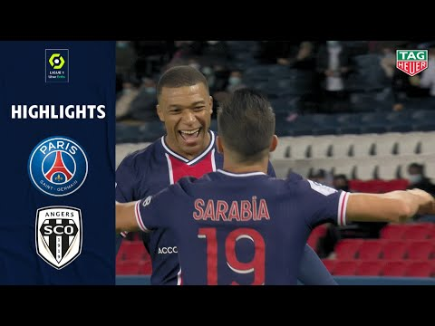 PARIS SAINT-GERMAIN - ANGERS SCO (6 - 1) - Highlights - (PSG - SCO) / 2020-2021