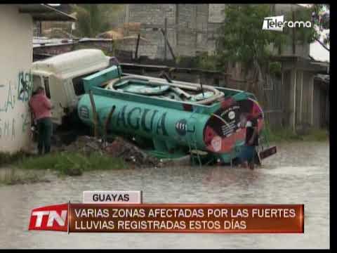 Varias zonas afectadas por las fuertes lluvias registradas estos días