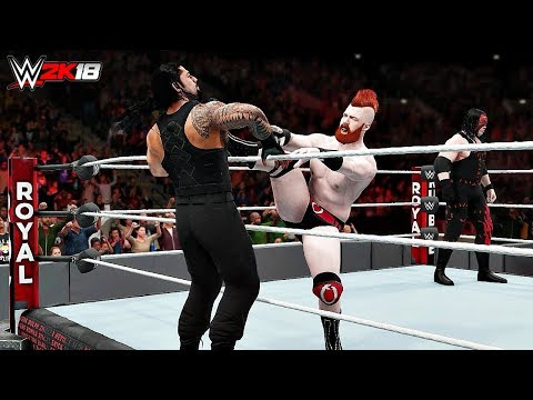 WWE 2K18 Top 10 Royal Rumble Match eliminations!