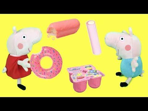Peppa Pig en español - 24 horas comiendo rosa con Peppa pig y sus amigos. Videos de Pepa la cerdita y juguetes en español