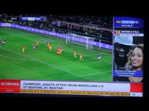 Milan-Barcellona 2-0 Ampia Sintesi e Goal 2013 HD