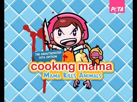COOKING MAMA, MAMA KILLS ANIMALS | COOKING MAMA VERSION GORE JAJA