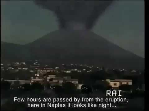 eruzione del vesuvio - simulazione