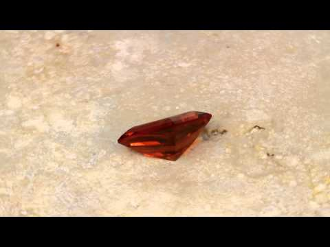 Spessartite Garnet Shield Cut Weighs 4.15 Carats