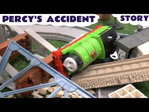 Play Doh Story Thomas & Friends Percy's Accident Thomas Tank Playdough Crash Diggin Rigs Rolland