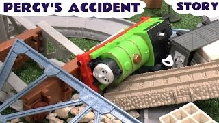 Play Doh Story Thomas The Tank Percy's Accident Thomas Tank Playdough Crash Diggin Rigs Rolland