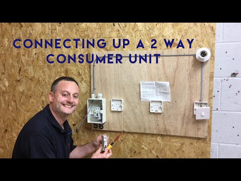 Connecting a Final Circuit in a 2 Way Crabtree 17th Edition Amendment 3 Consumer Unit (Fuse Board)