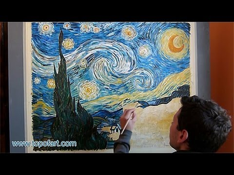 Art Reproduction (van Gogh - Starry Night) Hand-Painted Step by Step