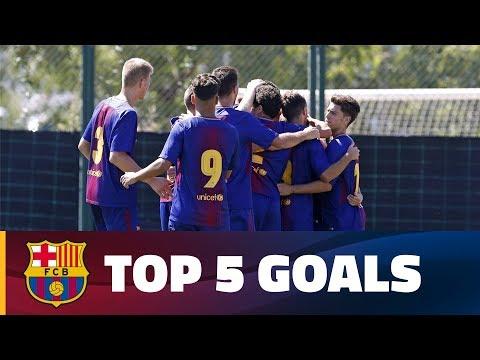 العرب اليوم - شاهد: أفضل 5 أهداف لشباب أكاديمية برشلونة الماسية