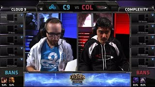 Cloud 9 vs compLexity | S4 NA LCS Summer split 2014 SuperWeek 1 Day 3 | C9 vs COL G2