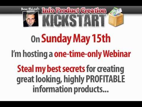 Info Product Creation Kickstart Webinar