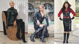 Video Casual And Formal Style Ladies Leather Dress With Leather Boots MP3, 3GP, MP4, WEBM, AVI, FLV Juli 2018