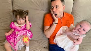 Boo boo song with Dad and Four kids | Songs for Children