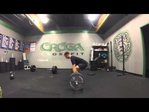 Deadlift – build to technical 1RM w/ perfect spine position – 315 lbs