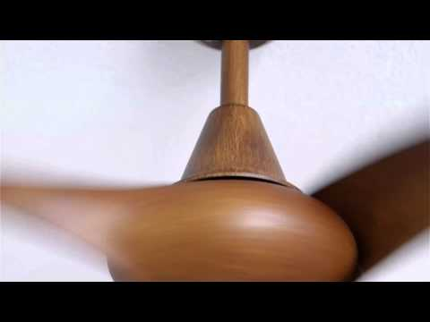 Video for Wave 52-Inch Ceiling Fan with Three Blades in Distressed Koa Finish