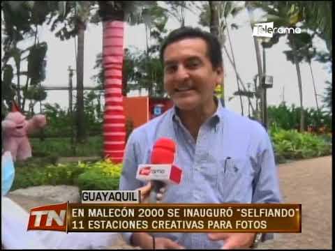 En Malecón 2000 se inauguró Selfiando 11 estaciones creativas para fotos