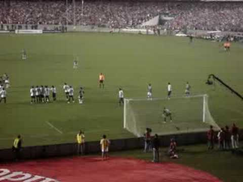 gol na final libertadores - video com o gol de thiago neves, terceiro do FLU na final da libertadores 2008, direto das arquibancadas amarelas, gol e reacao da galera...