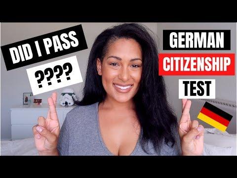 American Takes German Citizenship Test