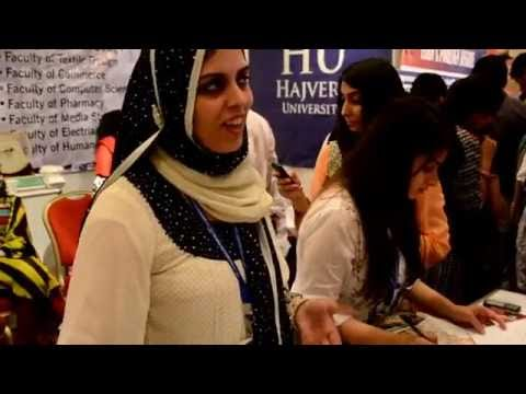 Hajvery - 20 June, 2012. Hajvery University (HU)'s stall at the Education Expo 2012 received an overwhelming response of more than 1400 Prospective Student's queries, ...