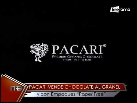 Pacari vende chocolate al granel y con empaques Paper Free