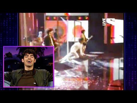 Joe Jonas Watches Himself Fall, Fall and Fall Again