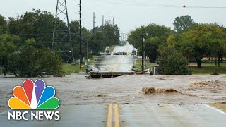 Watch Floodwaters Flow Through Large Parts Of Texas After Heavy Rain | NBC News
